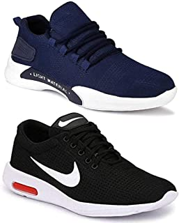 WORLD WEAR FOOTWEAR Men's Running Shoes (Set of 2 Pairs)