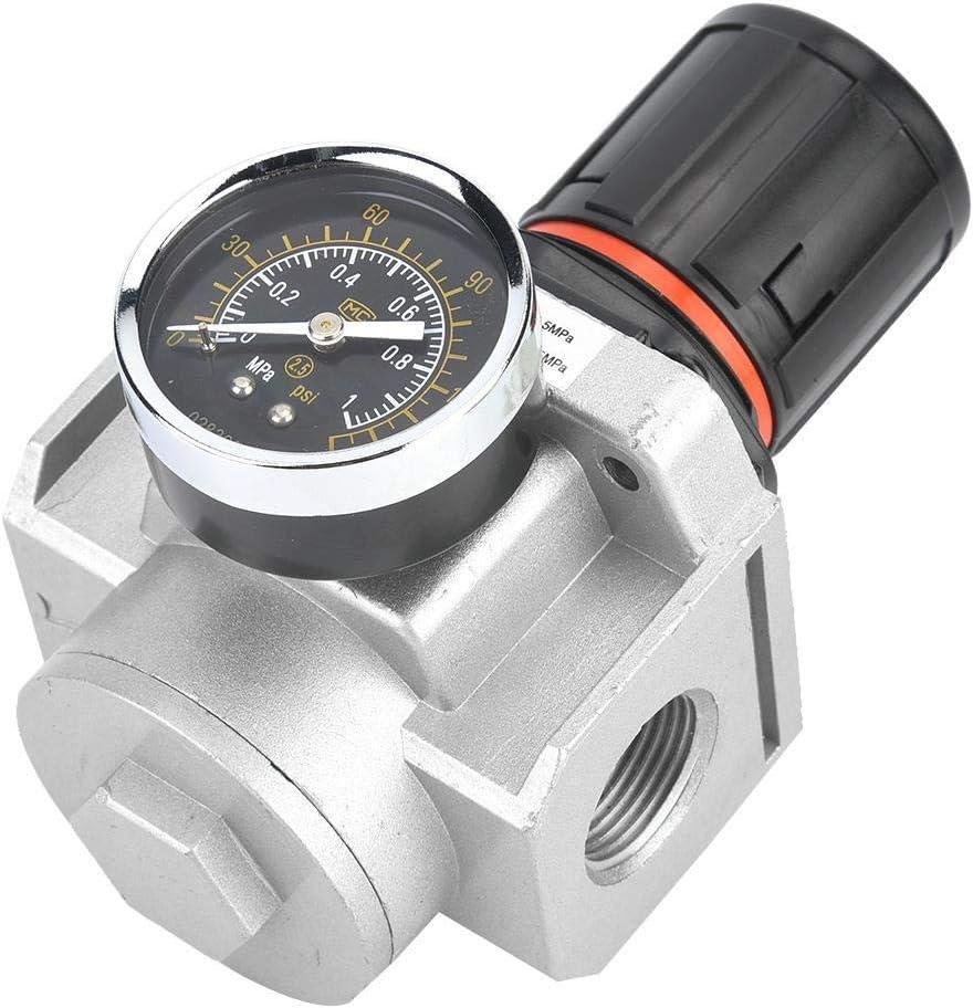 LHQ-HQ Aire Regulador de presión, tamaño compacto de peso ligero de fuente de aire de presión del compresor ajustable Regulador Reducir la válvula for todo tipo de neumático Instrumentos Válvula