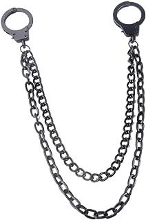 Kuyou Men's Rock Hip Hop Punk Trousers Wallet Key Chain Handcuffs Pendant Pant Jean Gothic
