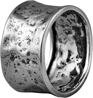 Paz Creations 925 Sterling Silver Ring For Men | Hammered...