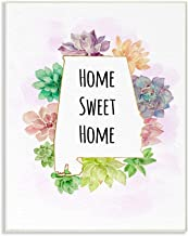Stupell Industries Alabama State Home Sweet Home Succulent Watercolor Vignette Wall Plaque Art by Ziwei Li, 10 x 0.5 x 15,...