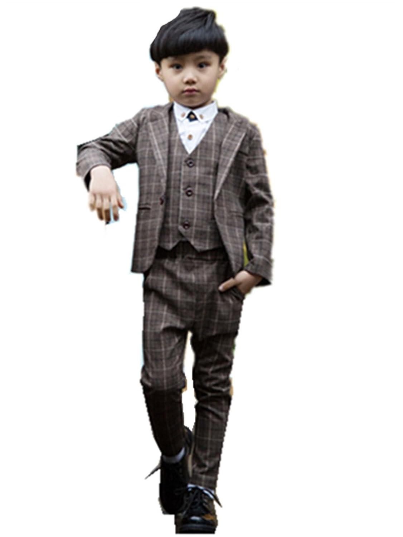 子供スーツ 4点セット キッズ 長袖ジャケットコート&長ズボン&ベスト 男の子 フォーマル タキシード 子供服 フォーマル 男の子/韓国子供服 100cm 110cm 120cm 130cm 140cm 150 160cm