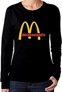 Women's Casual McDonalds Tee T Shirt Long Sleeve O-Neck Cotton T-Shirt Sports Fitness Tops Shirts for Women