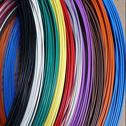 Cable de señal de alta temperatura 10 11 13 14 16 18 20 22 24 26 28 30AWG Multicolor chapado en plata trenzado PTFE cable negro 50 metros 28 AWG