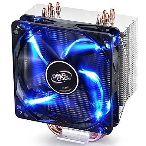 DEEPCOOL GAMMAXX 400 CPU Air Cooler with 4 Heatpipes, 120mm PWM Fan and Blue LED for Intel/AMD...