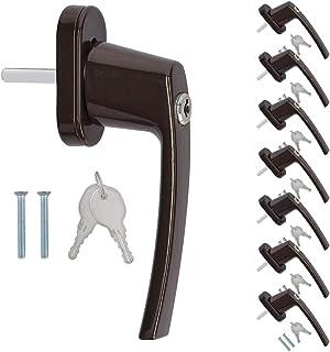 kwmobile draai-kiep raamkruk met slot - Set van 8 afsluitbare handgrepen voor ramen en deuren - Met draai- en kiep functie...