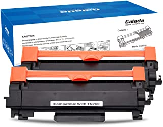 Galada Compatible Toner Cartridge Replacement for Brother TN760 TN-760 TN730 TN-730 for DCP-L2550DW MFC-L2710DW MFC-L2750DW MFC-L2750DWXL HL-L2350DW HL-L2370DW HL-L2370DWXL(2 Pack With Chip)