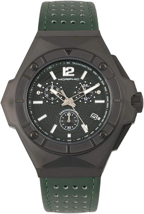 Orologio morphic m55 series cronografo in pelle orologio con data MPH5505