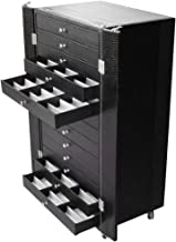 Ikee Design Eyewear Display and Storage Cabinet with Wheels for Sunglasses, Reading Glasses, Prescription Glasses, Include 13 Trays, Each Tray Hold 18 Frames, Total 234 Frames
