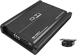 DTI MA1600.4 1600 Watts 4-Channel Car Audio Stereo Amp Mosfet Power Multi Channel Bridgeable Amplifier with Bass Remote Control Included