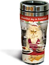 Tree-Free Greetings SG25867 Avanti Humor Another Day in Paradise Sip 'N Go Stainless Steel Lined Travel Tumbler, 16-Ounce, Multicolored