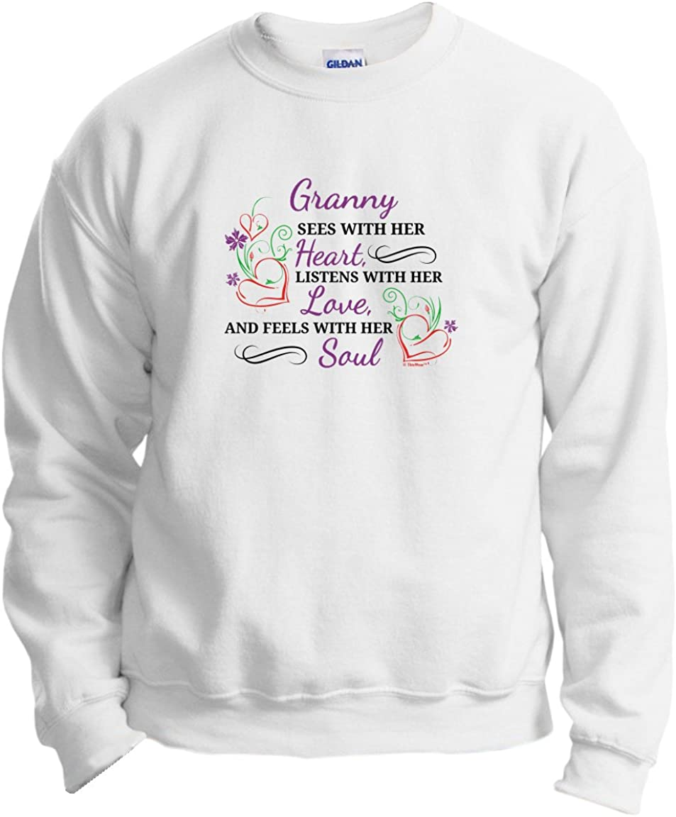 Granny Gifts Sees with SEAL limited product Her Crewneck Heart Love Swea Listens Fort Worth Mall
