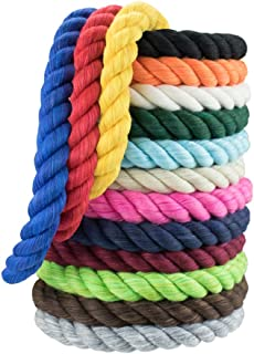 West Coast Paracord Twisted Cotton Rope - 3 Strand Natural Artisan Cord - 1/4 Inch and 1/2 Inch - Super Soft - 10 Feet - Full Spool
