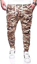 LAYAN-B Heren Jogger Broek Camouflage Joggingbroek Sport Gym Casual Trekkoord Elastische Taille Slim Fit Broek