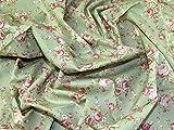 Minerva Crafts Baumwoll-Popeline-Stoff, Retro-Stil,