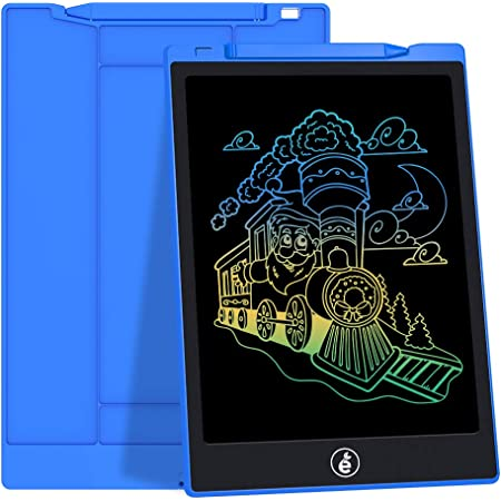 ZnMig Portable Reusable Erasable Writer Portable Childrens LCD Tablet 10.5 Inch Partially Rewritable Graffiti Board Drawing Board for Digital Handwriting Pad Doodle Board for Schoo