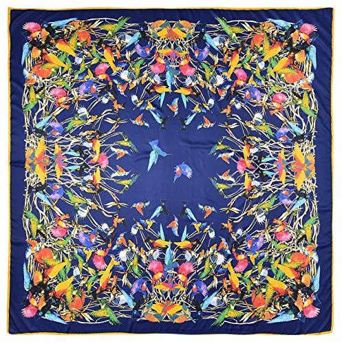Aututer Nueva bufanda de seda imitada de sarga para mujer, bufanda cuadrada...