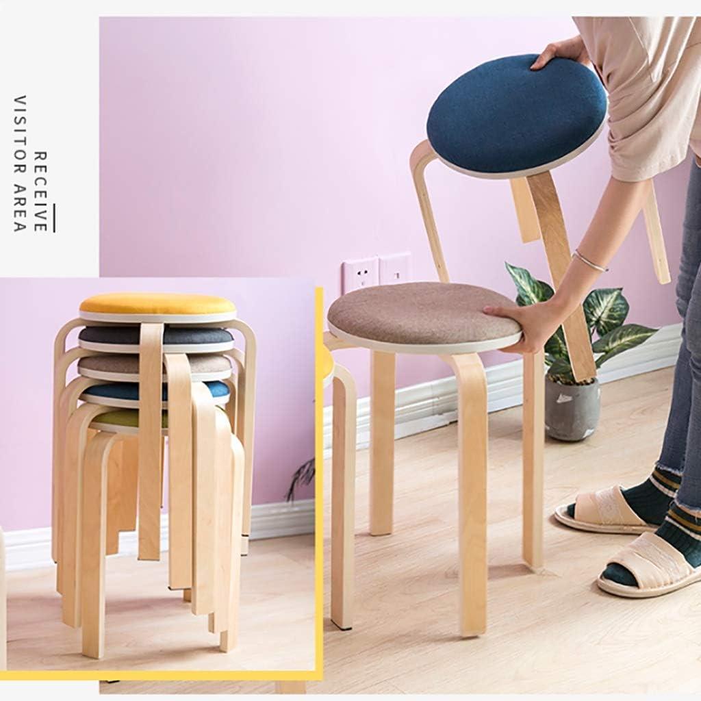 Tabourets de camping Tabouret Accueil Table à manger Tabouret Tabouret mode créatif ronde Salon Petit tabouret Tabouret simple Chaise à manger moderne (Color : C) B