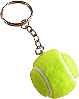 Freedi Key Chain Creative Tennis Ball Pendant Unisex Keyring for Men Women