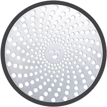 facile da pulire Filtro per capelli in acciaio inox per lo scarico della doccia LEKEYE