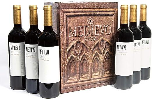 Vino Tinto Rioja Medievo Reserva 2014 (12): Amazon.es ...