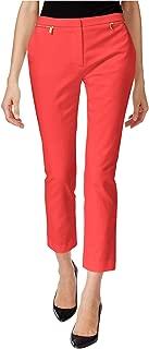 Calvin Klein Womens Zip-Detail Casual Trousers