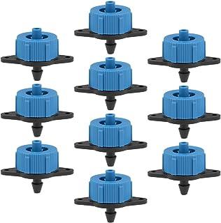 موزع تعويض الضغط من uxcell 1 GPH 4L / H لري بالتنقيط في الحديقة مع موصل خرطوم شائك ، البلاستيك الأسود الأزرق 50 قطعة