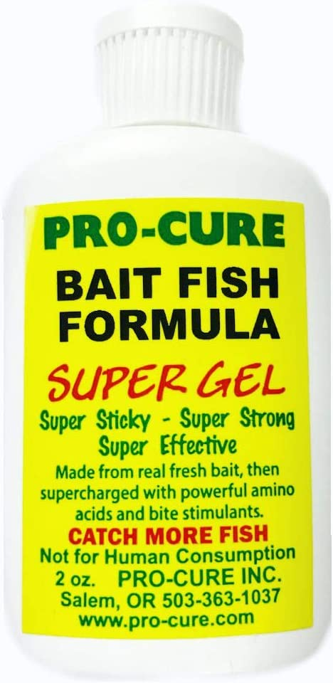 Pro-Cure Bait Fish Formula Gel, 2 Ounce : Fishing Attractants : Sports & Outdoors