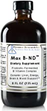 Max B-ND TM, 8 fl oz, Vegan Product - Probiotic-Fermented Vitamin B Complex Formula for Dynamic Liver, Energy, Brain and M...