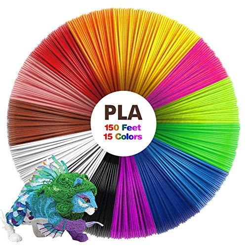 3D Stift Filament PLA 1.75mm 3D Pen Filament 15 Farben 10M Umweltfreundliches Material für 3D Druck Stift Kindergeschenke