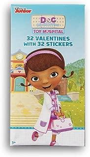 Disney Junior Doc McStuffins 32 Valentines with 32 Stickers