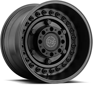 Black Rhino TAUPO Black Wheel with Painted Finish (17 x 9. inches /8 x 165 mm, 12 mm Offset)