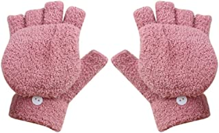 Aodewe Men Winter Thick Mittens Warm Windproof Driving Leather Gloves
