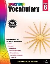 Spectrum Paperback Vocabulary Book, Grade 6, Ages 11 - 12
