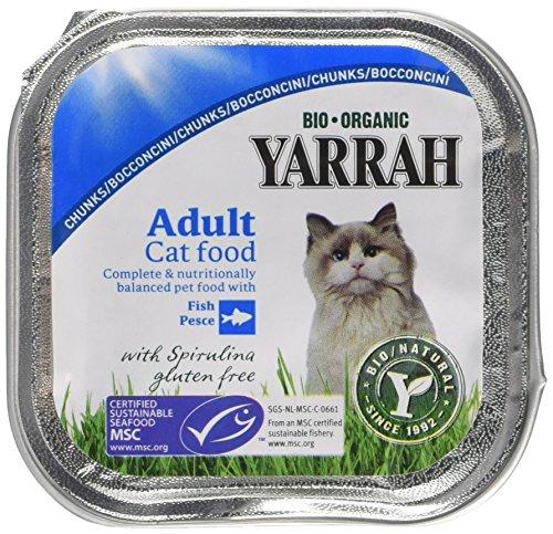 Yarrah Cat Food - Trozos de caballa (100 g, 16 Unidades)