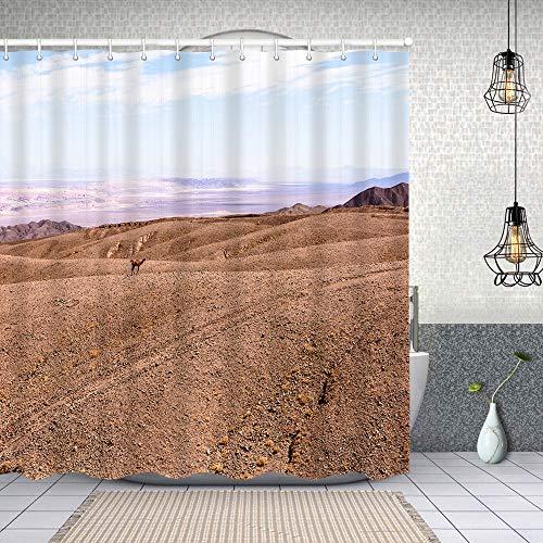 Cortina Baño,Hermoso Paisaje del Desierto de Atacama Chile,Cortina de Ducha Tela de Poliéster Resistente Al Agua Cortinas de Ducha Baño con 12 Ganchos,180x180cm