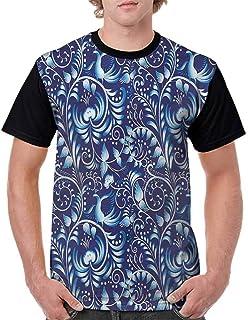 BlountDecor Performance T-Shirt,Scenery Lake Bushes Fashion Personality Customization