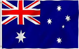 AUSELECT Australian Aussie Flag 150cm x 90cm Durable Polyester Material with Circle Metal Buckle