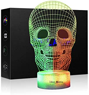 3D Optical Illusion Night Light 7 LED Color Changing Lamp Cool Soft Light Safe for Kids Home Decor Xmas Holiday Birthday G...