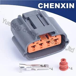グレーの4ピン端子と防水6195から0030を含むオートコネクタカースロットルポジションセンサーTPSプラグ(2.2)女性、:100set