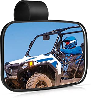 UTV Mirror, ISSYZONE High-Definition Mirror with ShatterProof Tempered Glass and 1.5