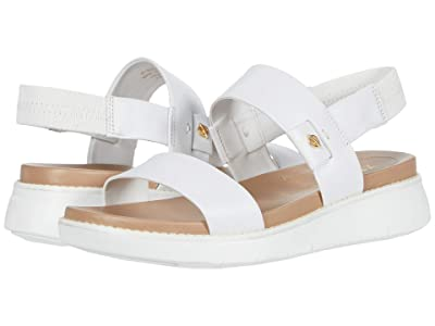 Cole Haan Zerogrand Global Double Band Sandal (Optic White Leather/Amphora/Optic White) Women