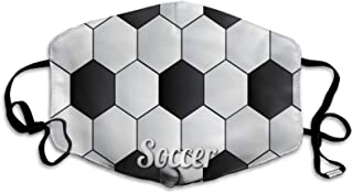 Soccer face c-over with adjustable elastic ear loops...