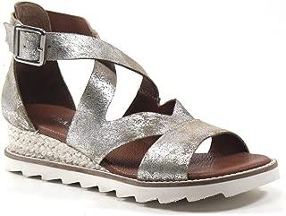 Diba True QU Aint Leather Wedge Sandal