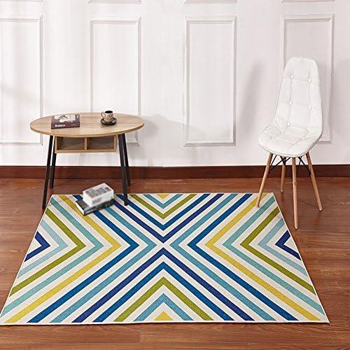 LiuJfüraditioneller Teppich, Wohnzimmer-Sofa-Kaffee-Tabellen-volles Teppich-Diffusions-Muster-Blau-Schwarzs, das einfach ist, Teppich-L e 80-140cm   zu säubern (Farbe   B, Größe   140  20cm  )
