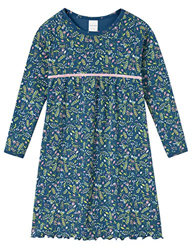 Schiesser Nachthemd 1/1 Maglia Lunga da Notte, Blu (Dunkelblau 803), 92 cm Bambina