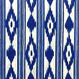 Kt KILOtela Tela de loneta Estampada - Retal de 100 cm Largo x 280 cm Ancho | Lenguas Mallorquinas - Azul ─ 1 Metro