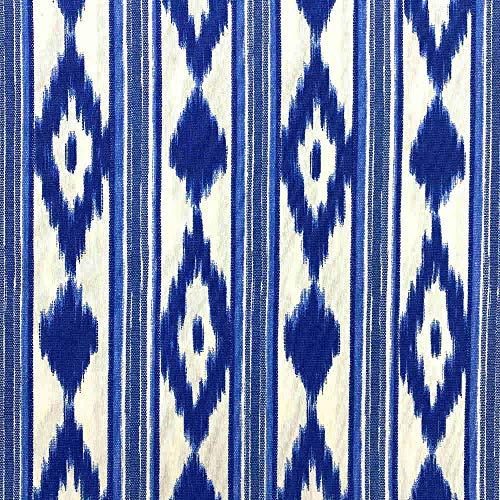 Kt KILOtela Tela de loneta Estampada - Retal de 300 cm Largo x 280 cm Ancho | Lenguas Mallorquinas - Azul ─ 3 Metros