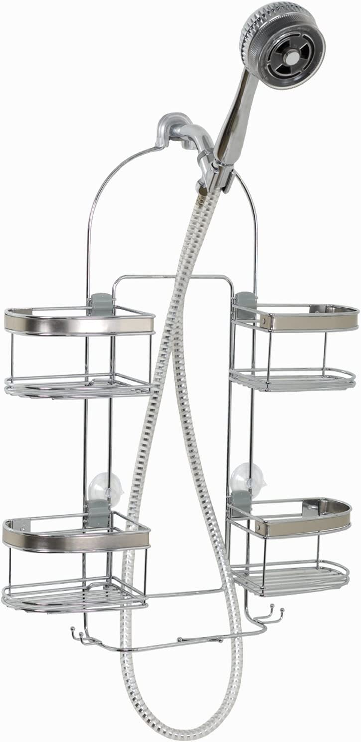 Zenna Home Expanding Shower New arrival Limited price Caddy Chrome with Rust-Resistant B