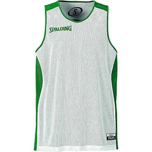 Spalding - Camisa de baloncesto, color verde / blanco, talla 4XL
